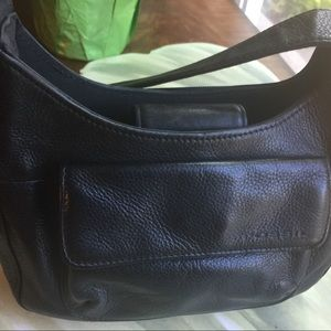 FOSSIL BLACK SMALL SHOULDER LEATHER BAG